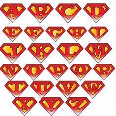Superman Logo With Different Letters Superman Logo Lettering Alphabet Lettering