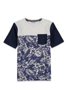 Colorblocked Tropical Print Tee (Kids) | FOREVER 21 BOYS - 2000052844
