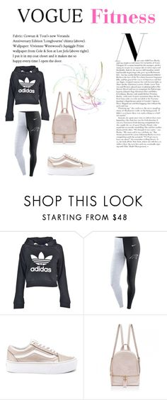 """Fitness"" by livia-alexandra on Polyvore featuring adidas, NIKE and Vans"