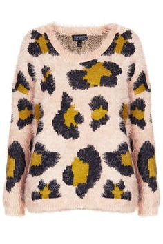 Knitted Fluffy Animal Jumper - Knitwear  - Clothing