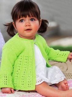 Giacca per la bambina con punto ajour #Maglia