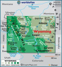 Wyoming map.....we went there on our trip to Yellowstone National Park!!