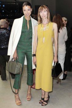 Lily Kwong and Anya Ziourova at Calvin Klein