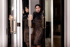 ANNA RUSSKA in Stella McCartney Four Seasons Hotel Fashion Photo leopard look