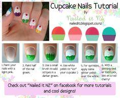 Nailed It NZ: Nail art for short nails #6: Cupcake Nails