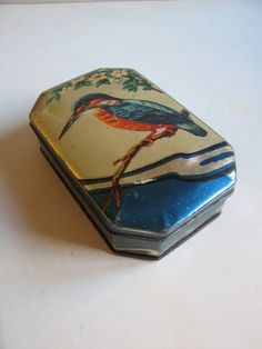 vintage George W. Horner toffees tin box made in by RetroDecoShop