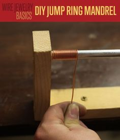 DIY Jump Ring Mandrel | Jewelry Making DIY Tutorial - Why pay for jewelry supplies when you can make your own? Step-by-step photo How To. http://diyready.com/jump-ring-mandrel-diy-jewelry-making-supplies/ #DIYReady