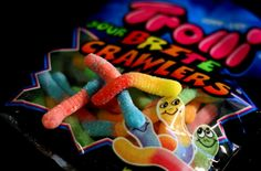 Sour. Gummy. Worms.