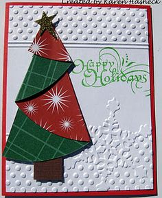 Karen's Doodles and Partytime Tuesday Challenges – Christmas DIY Holiday Cards Christmas Tree Cards, Noel Christmas, Christmas Paper, Xmas Cards, Handmade Christmas, Holiday Cards, Christmas Crafts, Xmas Tree, Christmas Layout