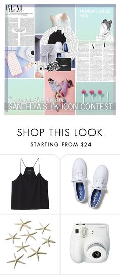 """""""&&✿;; kiss me where i lay down, my hands pressed to your cheeks"""" by xheyitssanx ❤ liked on Polyvore featuring Monki, Keds, Chanel, majesticmagazine and sanandher1kfam"""