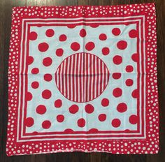 Vintage Red White Polka Dot Bandana USA All Cotton RN 13960 Rockabilly | eBay