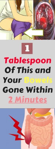 Only 1 Tablespoon Of This and Your Bowels Gone Within 2 Minutes