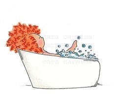 Chiquita Taking a Bath