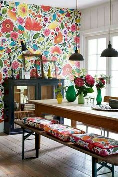 25 Accent Wall Ideas Youll Surely Wish to Try This at Home Tags accent wall accent wall ideas accent wall colors accent wall bedroom accent wallpaper accent wall wood Accent Wallpaper, Bright Wallpaper, Wallpaper Ideas, Bathroom Wallpaper, Wall Wallpaper, Trendy Wallpaper, Modern Floral Wallpaper, Matching Wallpaper, Flower Wallpaper