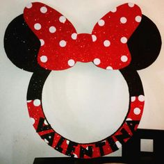 Minnie Mouse Custom Name Letters - price is per letter Minnie Mouse Birthday Decorations, Minnie Mouse Theme, Mickey Mouse Birthday, Fiesta Mickey Mouse, Mickey Party, Baby Shower Photo Booth, Mouse Parties, 2nd Birthday Parties, Fiestas Party