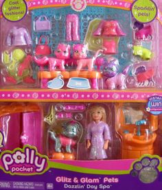 Polly Pocket Glitz & Glam Pets Dazzlin' Day Spa Playset (2007) by Mattel. $29.99