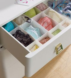 Beautifully Organized: Lingerie Drawer - Tips on how you can do this in your own closet