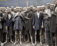 """US troops liberates Ebensee concentration camp on 7 May 1945"" by Sverige55 in Colorization"
