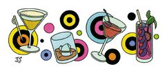 A Fast and Furious Cocktail Menu | The New Yorker May 23rd, 2013 by Joost Swarte