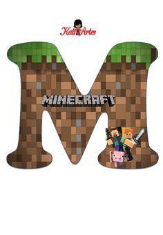 Abecedario de Minecraft. Minecraft Alphabet. | Oh my Alfabetos! Minecraft Crafts, Candy Minecraft, Minecraft Party Decorations, Easy Minecraft Houses, Minecraft Room, Hama Beads Minecraft, Diy Birthday Decorations, Creeper Minecraft, Minecraft Skins