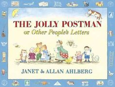 The Jolly Postman or Other People's Letters by Janet and Allan Ahlberg. The Jolly Postman delivers cards and letters to various fairy-tale characters. A timeless classic that children enjoying reading over again. Books To Buy, New Books, Good Books, Little Pigs, Little Red, Jolly Christmas Postman, The Jolly Postman Book, Buying Books Online, Thing 1