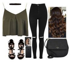 """""""Untitled #6355"""" by hannahmcpherson12 ❤ liked on Polyvore featuring Topshop, Forever New, Steve Madden and Kate Spade"""