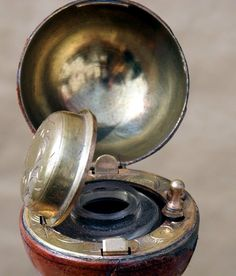 Wonderful World of Antique Canes | Blog | Winfield Canes.....Inkwell on top of the cane