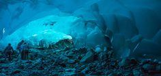 Cavernas de gelo em Mendenhall Glacier  | Alaska