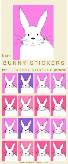 FREE printable Easter bunny planner stickers