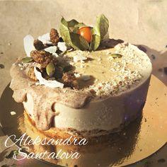 RAW salted caramel CAKE #cake #raw #vegan #tort #natural