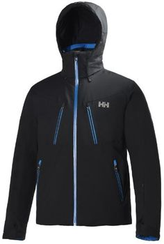 Helly Hansen Men's Alpha Jacket, Black/Racer Blue, X-Large Helly Hansen ++You can get best price to buy this with big discount just for you.++