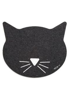Purr Perfection Pet Place Mat. Your pet has discerning taste in everything from treats to toys, but they still savor every adorable detail of this cat place mat! #black #modcloth
