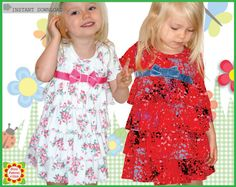 Sewing Pattern from DressPatterns4Girls 2 in 1 Sugar & Spice KNIT SEWING DRESS Tunic PATTERN, Instant Download Enjoy the comfort of a knit dress