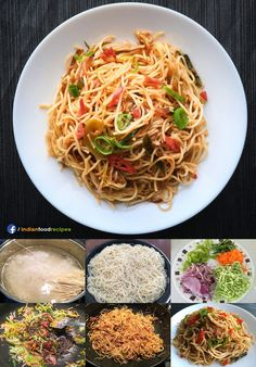 Hakka noodles recipe step by step. The key of cooking hakka noodles (or any indo-chinese dish) is to cook them very quickly on very high flame. Toss and fry this quick dish for a weeknight dinner – serve it by itself or try it with some chilli paneer. Chinese Noodle Recipes, Indo Chinese Recipes, Chinese Food, Indian Food Recipes, Vegetarian Recipes, Healthy Recipes, Breakfast Recipes, Snack Recipes, Dinner Recipes