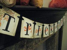 Halloween Decoration TRICK OR TREAT Banner, Garland, Sign.