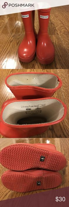 Hunter Red Toddler Rain Boots size 8. Hunter Red Toddler Rain Boots size 8. Hunter Boots Shoes Rain & Snow Boots