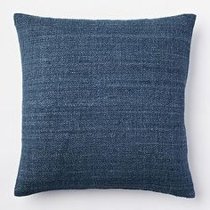 Solid Silk Hand Loomed Pillow Cover - Blue Lagoon #westelm