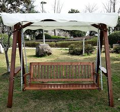 3 seater wooden garden swing chair seat hammock cream   173 99 fsc hardwood colonial 2 seater garden hammock swing seat with      rh   pinterest