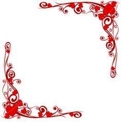 bordes de corazones - hearth borders
