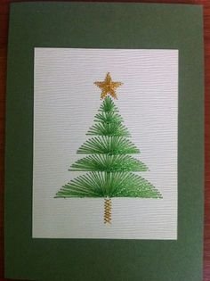 Sewing christmas cards paper embroidery 39 ideas for 2019 – Christmas – Noel 2020 ideas Embroidery Cards, Learn Embroidery, Embroidery Ideas, Diy Christmas Cards, Christmas Art, Green Christmas, String Art Patterns, Sewing Cards, Thread Art