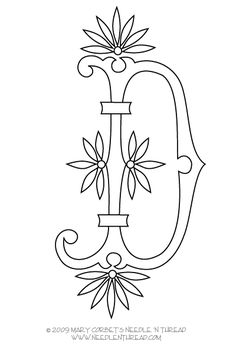 Monogram Patterns for Hand Embroidery: Letters E and F   Hand ...