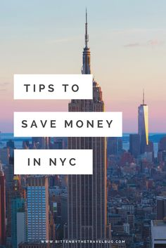 Last week I was asked typically how much to spend in New York if visiting for a week. This is how I'd make $1,600 last 7 days!