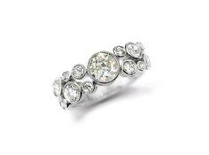 A Half-hoop Diamond Ring