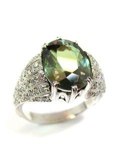 Sehr seltener Alexandrit-Brillant-Ring, Alexandrit 4.71 ct mit sehr gutem Farbwechsel