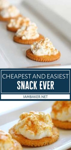 Struggling to come up with ideas for kids to munch on every afternoon? Look no further than the Easiest Snack Ever! The variations for this delightful treat are endless. No matter whatever combination you choose, everyone will love this cheapest back to school recipe! School Recipe, I Am Baker, Easy Snacks, Picky Eaters, Kid Friendly Meals, Finger Foods, Food To Make, Food Ideas, Appetizers