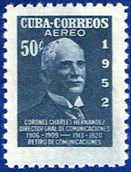 Cuba C71 Stamp - Colonel Sandrino Stamp - C CU C71-3 MH