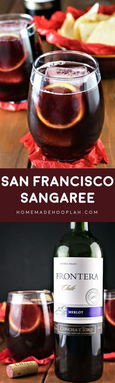 San Francisco Sangaree! A bold and tartly sweet wine cocktail made with Frontera wines. The perfect drink for all your celebrations! #ad | HomemadeHooplah.com