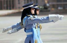 Pakistan Air Force officers.