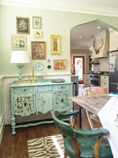 Our dining room has come together. We love, love, love this room. We eat here, collect mail piles here, drop off our bags here. It's a true family dining room, happy, colorful, and used. Enjoy the tour! BEFORE: When we toured this house, above is whatRead Full Post