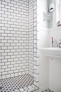 How to Clean Your Shower and Keep it That Way: 5 Quick Tips - love the recommendation to trim the bottom of your shower curtain with pinking shears to facilitate water runoff